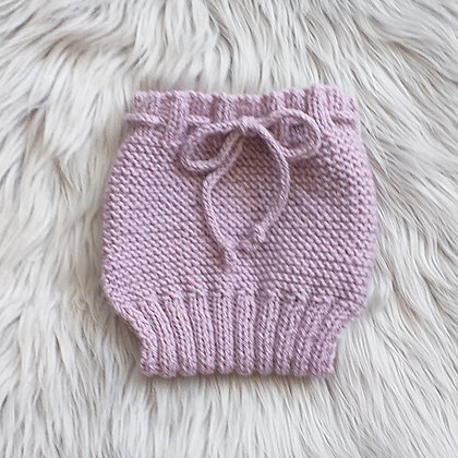Lovely Overnaps in Mauve Blush - Hand Made in Pure New Zealand Wool