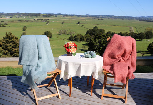Mohair Throws in Glacier and Tea Rose.JP