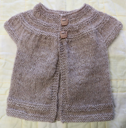 Delightful Cardigan in Soft Gotland Pelt Wool - Newborn