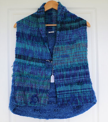 Stunning Hand Crafted Vest by Suzanne - Natural New Zealand Wool