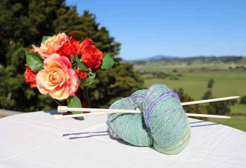 Lavender Fields Hand Spun and Dyed Gotla