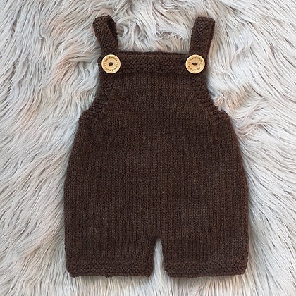 The Cutest Dungarees - Hand Made in New Zealand Natural Wool