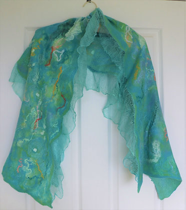 A Gentle Impressionist Water Colour - A Shawl by Elena