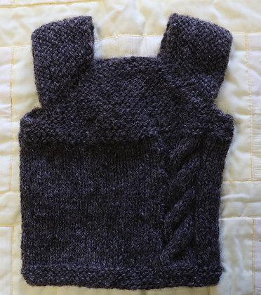 Milo Vest - Great for Play - Gotland Pelt Wool - 12 Months