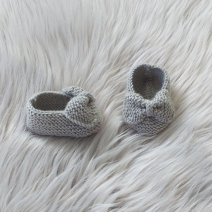 Sweetest Silver Booties With A Bow
