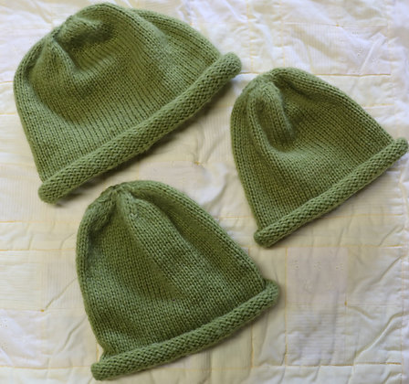 Gorgeous Green Hats in Baby Alpaca Wool - Various Sizes and Prices