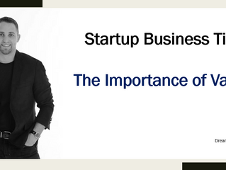 Startup Business Tip - The Importance of Value