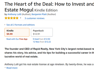 NEW #1 BESTSELLER - THE HEART OF THE DEAL