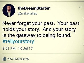 telling your story : MIKE FALLAT'S DREAMSTARTERS UNIVERSITY