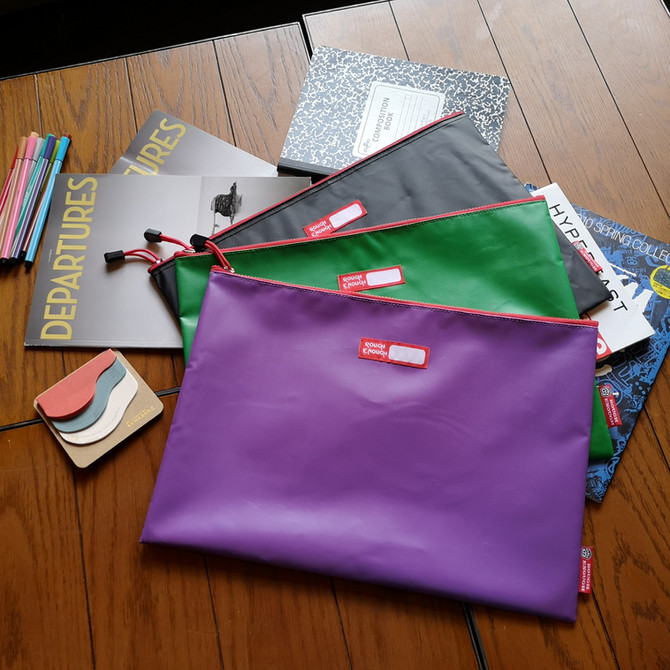 Rough Enough Tarpaulin Classic Durable Big Document Pouch with Zipper A4 Size Storage Envelope Holde