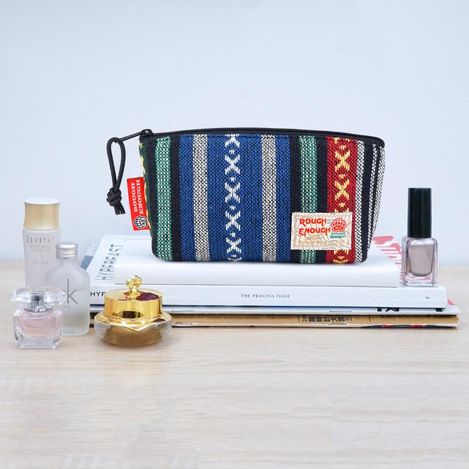 Rough Enough Small Pencil Case Travel Organizer Makeup Toiletry Bag for Women Men Teen Boy Girl Trav