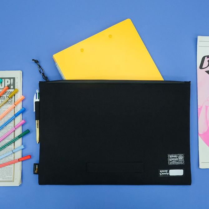 Rough Enough Big Document File Folder Organizer Holder Bag Pouch A4 Paper Letter Manila Size Case La