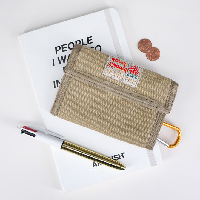 Rough Enough Hunting Canvas Mens Wallet for Boys Teen with Zipper Coin Purse Pouch Change Credit Car