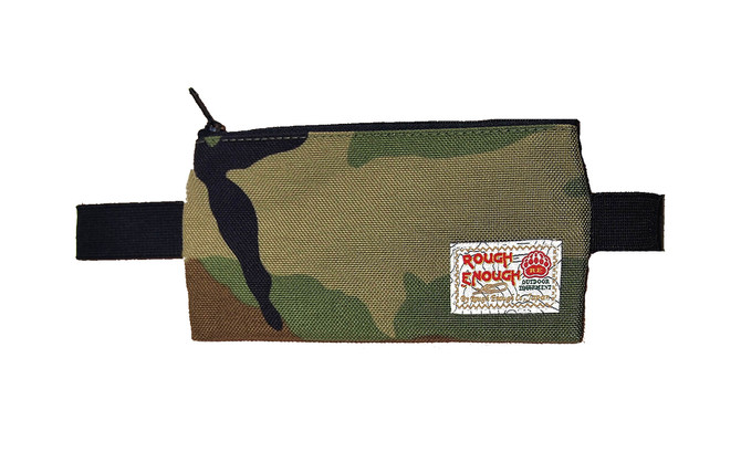 Rough Enough- multi color portable pen pouch, available in black, camo and folk.