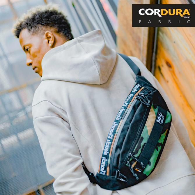 Rough Enough Mens Fanny Pack Crossbody Bag Waist Pack for Men in Camo Cordura