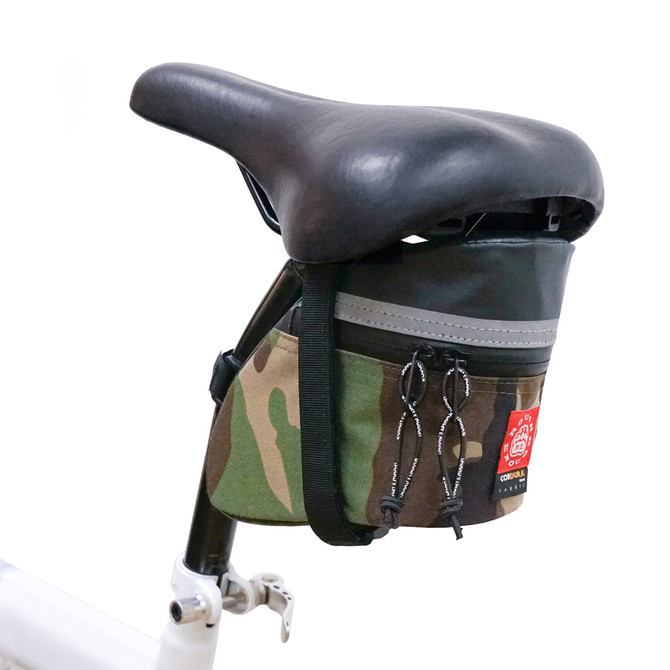 Rough Enough Camo Gravel Mountain Road Bike Saddle Bag Seat Bicycle Accessories for Small Multi Tool