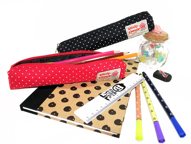 Rough Enough Classic Fancy Vintage Stationary Durable Slim Small Pencil Case Stick Pen Bag Mini Pouc
