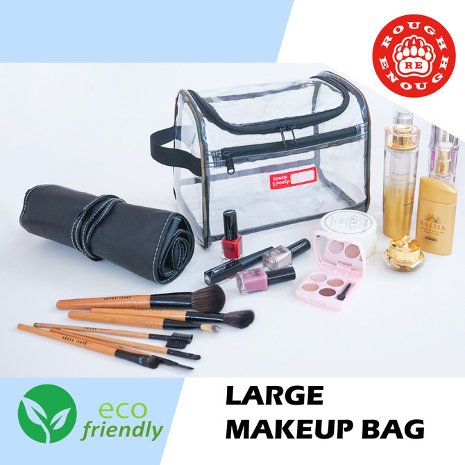Rough Enough Large Clear Toiletry Bag