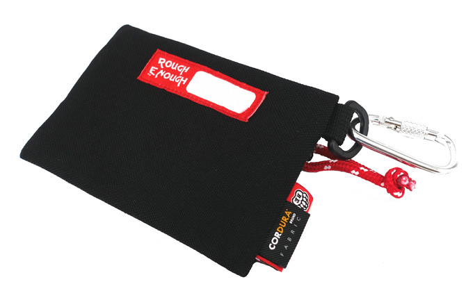 Rough Enough- super durable wallet pouch in CORDURA material, perfect for coins cards!