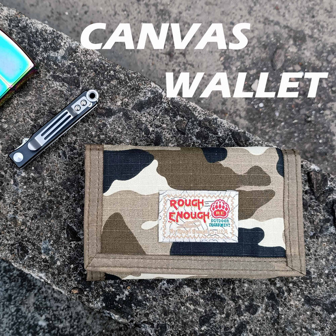 Rough Enough Trifold Camo Canvas Kids Boys Wallet for Boy Teen Coin Purse Age