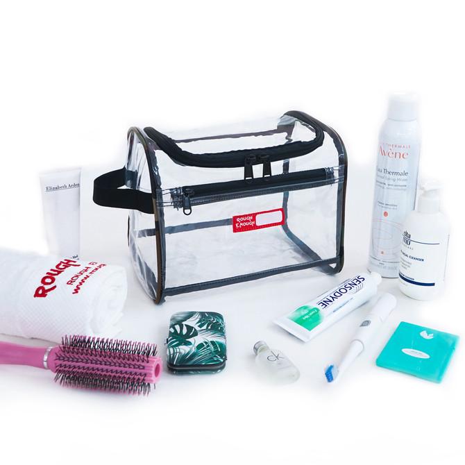 Rough Enough Transparent Large Clear Toiletry Bag Cosmetic Travel Makeup Organizer Wash Bag Pouch Lu