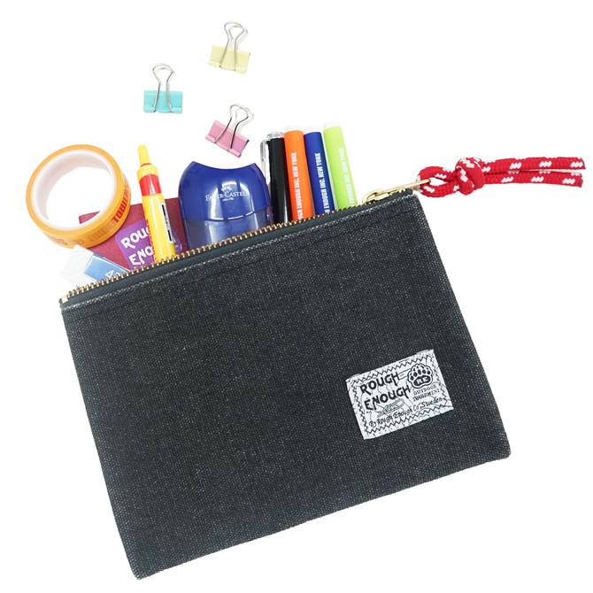 Rough Enough Fancy Vintage Heavy Duty Multi-purpose Canvas Pouch Small Portable Travel Bag Pencil Ca