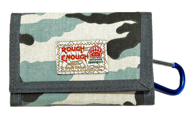 Rough Enough Vintage Camo Military Army Pattern Canvas Sports Outdoors Casual Simple Trifold Slim Sm