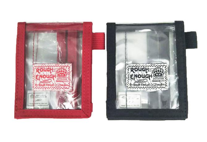 Rough Enough 2pcs Pack Set ECO Clear Transparent TPU Bifold Slim Minimalist Credit Card ID Holder Wa