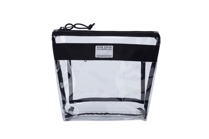 Rough Enough Multi Function ECO Transparent Fancy TSA Approved Toiletry Bag Clear Makeup Case Cosmet
