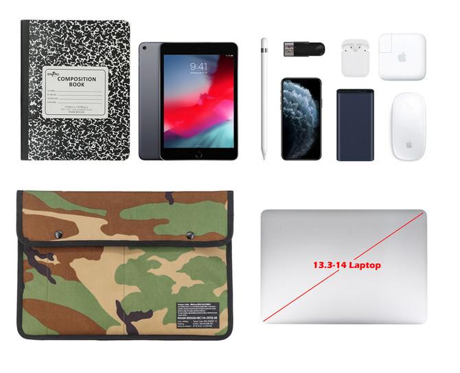 Rough Enough Slim Travel Military EDC Pouch 13 14 Inch Laptop Bag Case for Men Women Pocket Big Docu