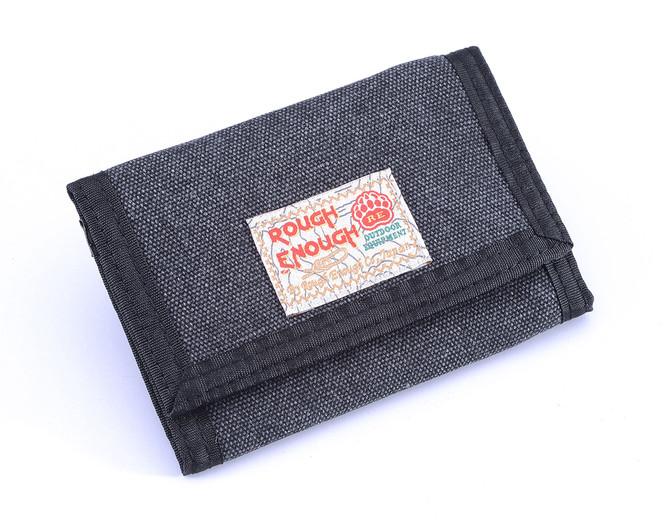 Nice tri-fold canvas wallet in black