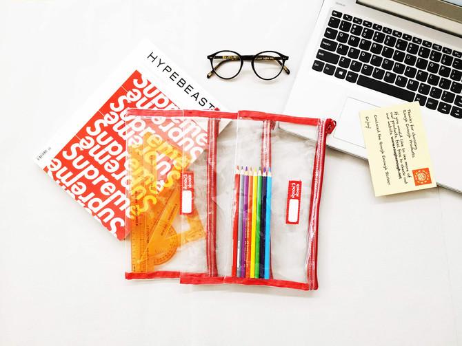 Rough Enough Basic Clear Transparent PVC See-through Storage Case Packing Bag Pouch Accessories Orga