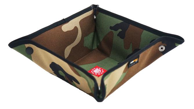 Rough Enough Fancy Vintage Cordura Green Military Camo Pattern Valet Tray Foldable Basket Storage Bo