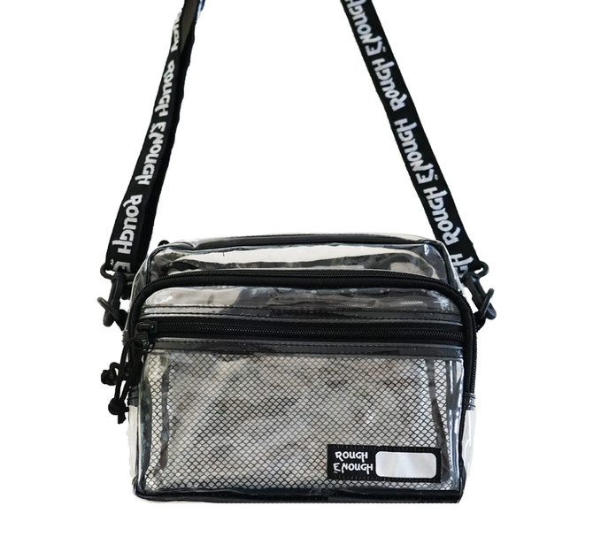Rough Enough TSA Transparent Fashion Crossbody Shoulder Streetwear NFL Clear Stadium Bag Daypack Wit
