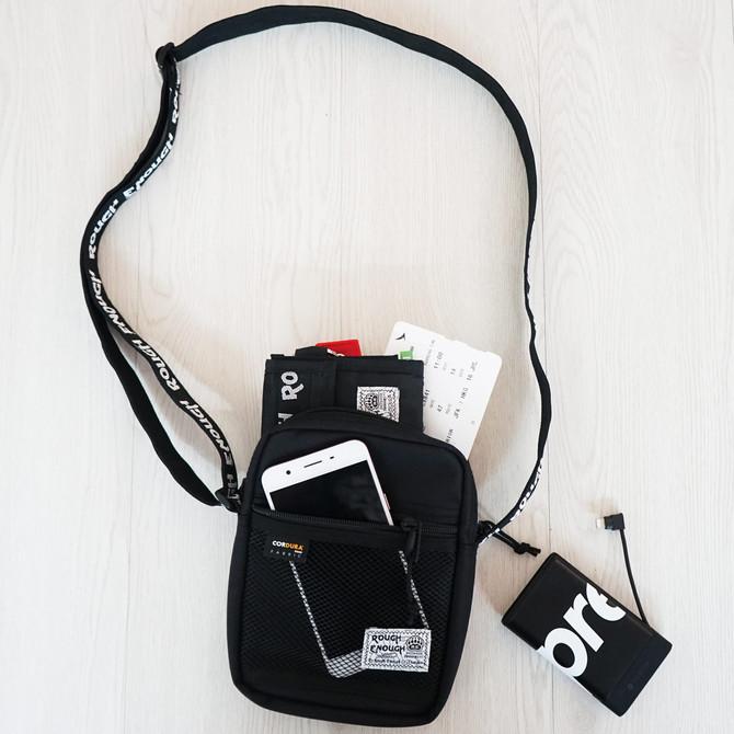 Rough Enough Fashion Classic Functional Multi Pocket CORDURA Small Crossbody Shoulder Bags Pack Orga