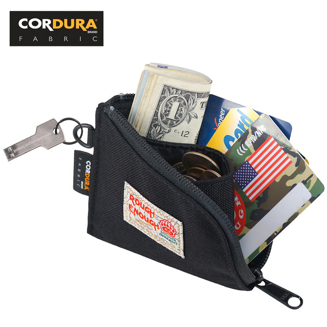Rough Enough Slim Coin Purse  Credit Card Holder for Men