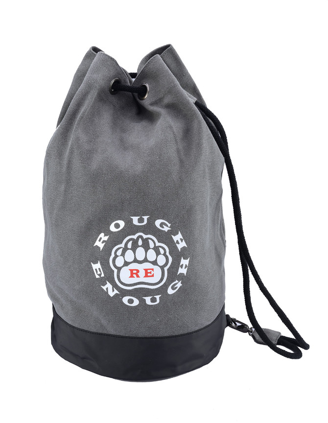ROUGH ENOUGH Heavy Duty Canvas Big Drawstring Bucket Bag