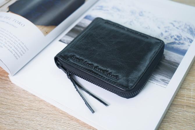 Rough Enough Durable RFID Blocking Men's Genuine Leather Bifold Wallet Zip Around Cash Case Mone