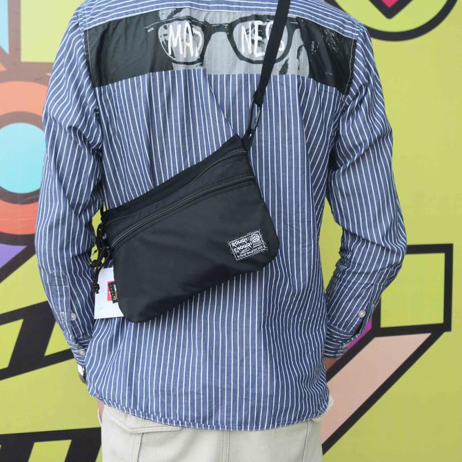 Rough Enough Crossbody Bag Black Fanny Pack for Women Men Tactical Waist Bag for Boys Teen Girls wit