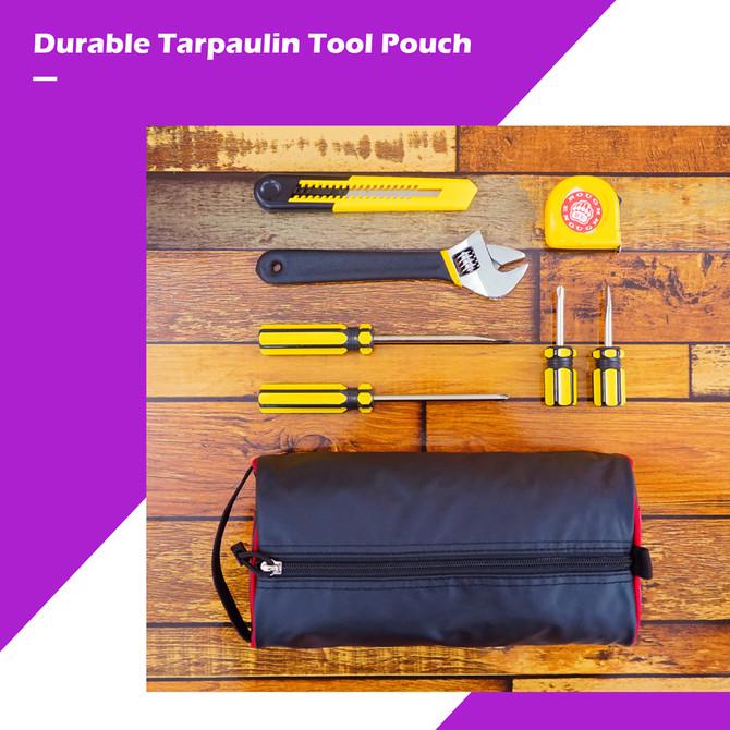 Rough Enough Zipper Multi Tool Pouch Travel Bag Case Organizer Storage Box with Zipper Closure Name