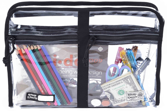 Rough Enough Durable A4 Transparent Clear Classic Multi-functional Big Document Pouch Case Holder Fo