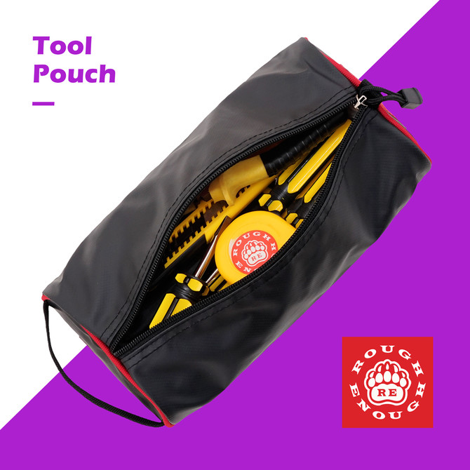 Rough Enough Durable Tarpaulin Tool Pouch Portable Holder Electronic Phone Charger Accessories Bag O