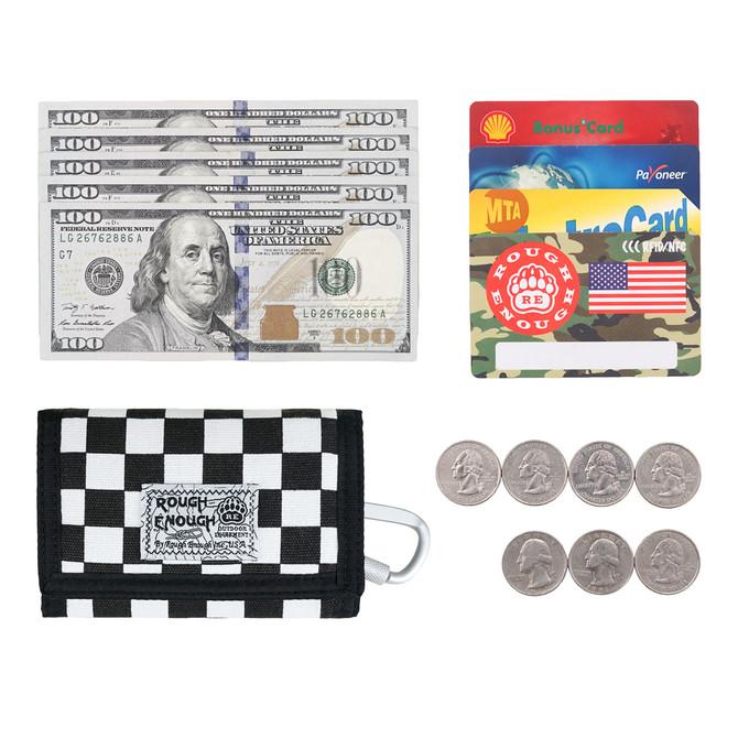 Rough Enough Canvas Travel Men Women Kids Wallet Credit Card Holder Coin Purse Pouch Case Organizer