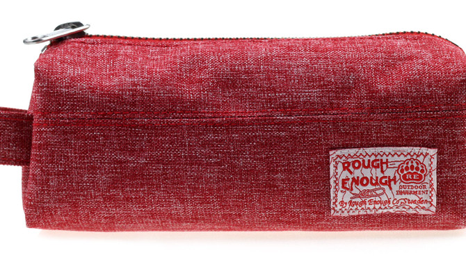 Rough Enough Premium Durable Cotton Cylindrical Shape Small Tool Pouch Bag Pencil Case Cosmetic Hold