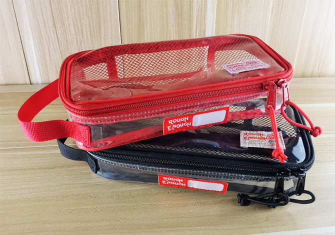 Rough Enough ECO Clear Transparent PVC Plastic Multipurpose Travel Pouch Toiletry Tool Classify Bag