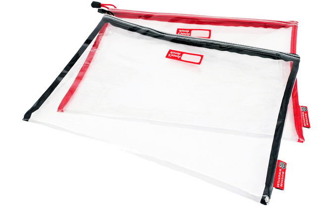 Rough Enough Durable Transparent 1 Set in 2 Clear Classic Multi-functional Big Document Pouch with Z