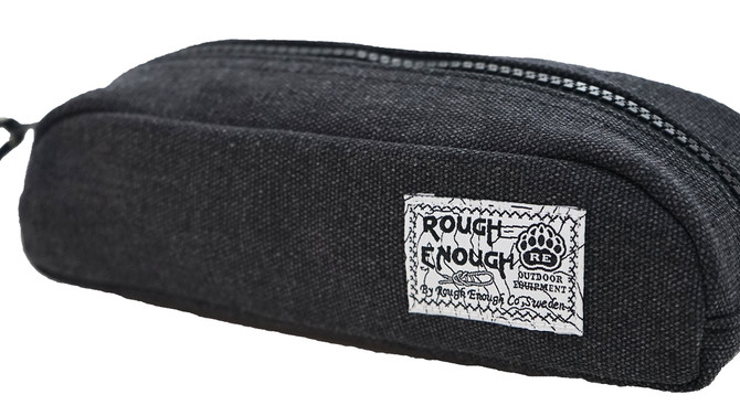 Rough Enough Raw Classic Fancy Vintage Stationary Heavy Canvas Durable Pencil Case Pen Bag Tool Pouc
