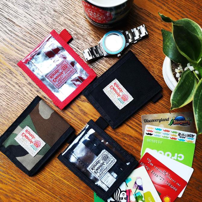 Rough Enough 2 Pack Set Vintage Simple Basic CORDURA Military Bifold Slim Mini Small Wallet Credit C
