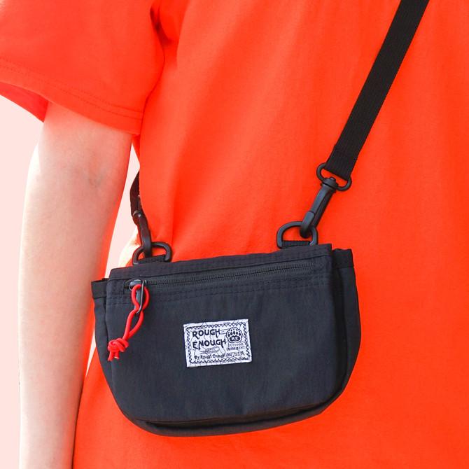 Rough Enough Black Mini Small Crossbody Bags Purse for Women Boy Girl Kids Travel Cell Phone 11 Pro