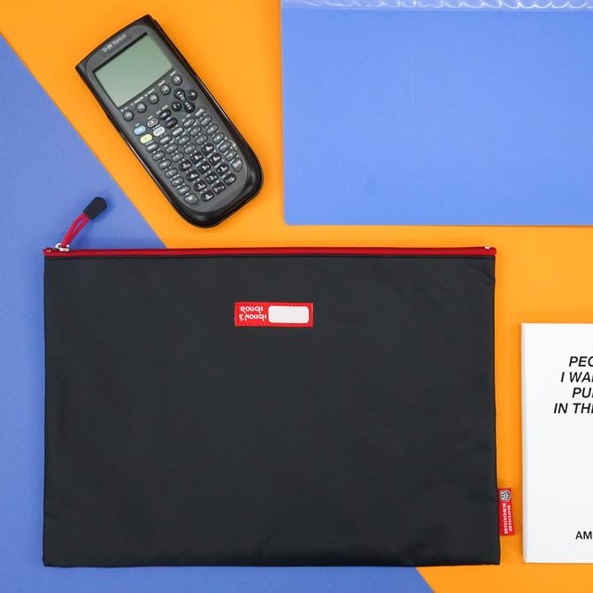 Rough Enough Big Document File Folder Holder Organizer Bag Pouch A4 Paper Letter Manila Size Case La